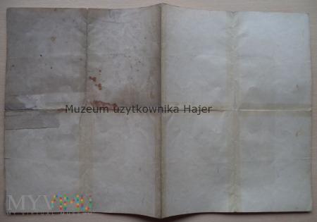 Schul -Entlassungs-Zeugnis Königshütte 1920 rok