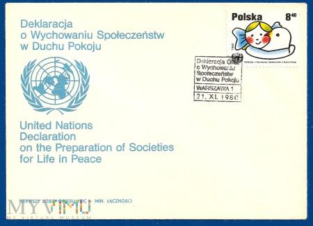 Deklaracja o Wychowaniu Społeczeństw w Duchu Pokoj