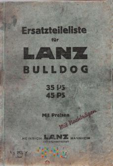 Lanz-Bulldog 35 und 45PS - Ersatzteileliste