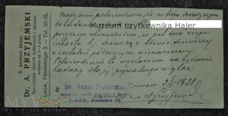 Potwierdzenie dziewictwa cnoty Lwów 1938 rok