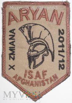 ISAF Afganistan X zmiana. COP Aryan