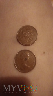 Old two pence 1971year.