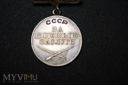Medal Za Bojowe Zasługi - ZSRR- numerowany