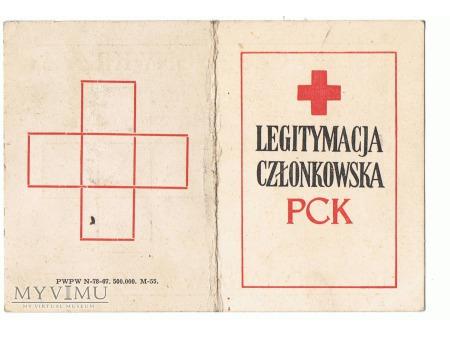 Legitymacja PCK z 1976 roku.