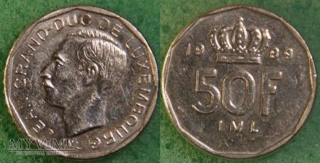 Luksemburg, 50 Francs 1989
