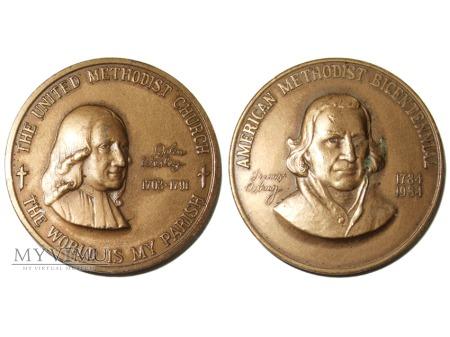 200-lecie amerykańskiego metodyzmu medal 1984