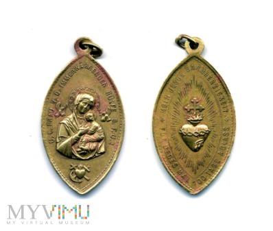 Medalik odpustu za modlitwę do Serca Jezusowego
