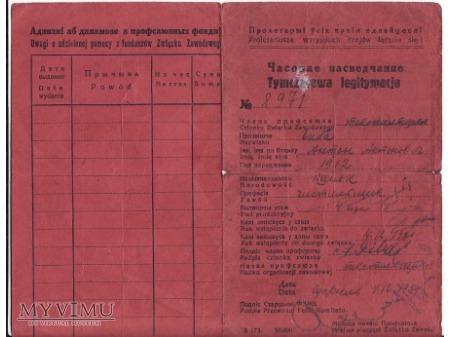 Legitymacja zw.zaw. z 1939.