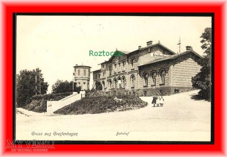 GRYFIN Greifenhagen Dworzec kolejowy