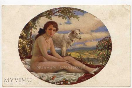 Duże zdjęcie Marecek - Uroki wiosny - Akt z psem