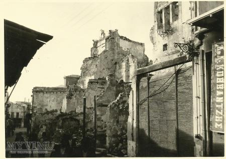 Zniszczone miasto w Grecji