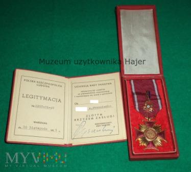 Złoty Krzyż Zasługi 1971 rok - komplet