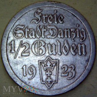 Wolne .m.Gdańsk-1/2 guldena 1923