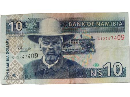 10 Dolarów, Namibia, od 1993 roku.