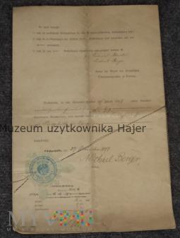 Verhandelt Akt notarialny 1897 Königshütte Chorzów