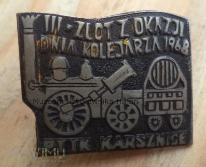Zlot z Okazji Dnia Kolejarza 1968 PTTK Karsznice