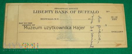 Czek - Liberty Bank of Buffalo