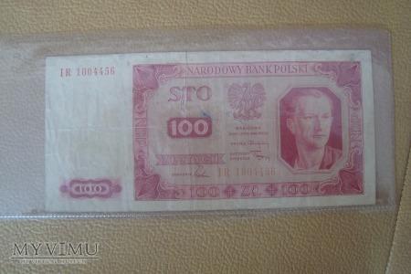Banknot 1948 r 100 złotych