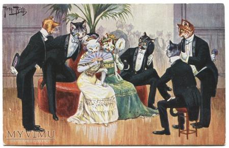 ARTHUR THIELE Koty na balu Cats at ball TSN 1229