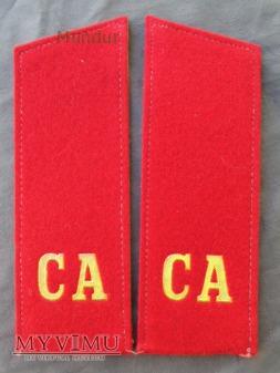 Pagony do munduru galowego - szeregowy