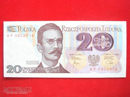20 złotych 1982 rok