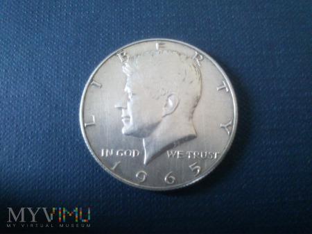 Pięćdziesiąt centów- USA 1965r srebro