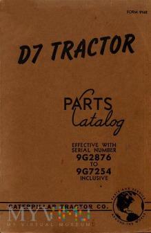Caterpillar D7 Tractor Katalog części zamiennych