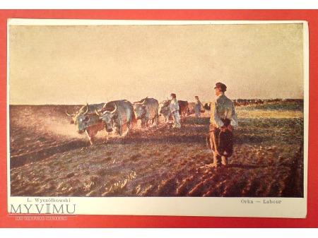 Duże zdjęcie Leon Wyczółkowski ORKA Praca na polu pocztówka