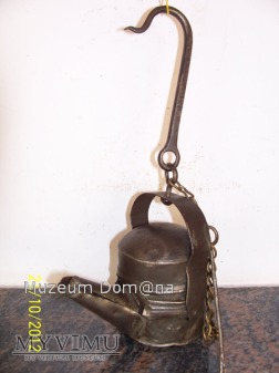 LAMPA OLEJOWA BLASZANA/tzw. Schella-OKOŁO 1850 ROK
