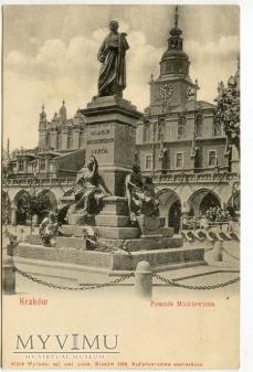 Kraków - Rynek - Pomnik Mickiewicza - 1903