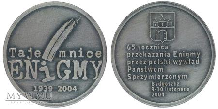 Tajemnice Enigmy żeton posrebrzany 2004
