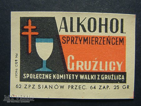 Etykieta - Alkohol sprzymierzeńcem gruźlicy