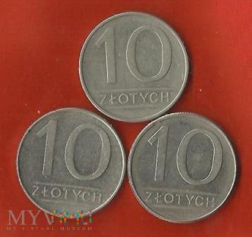 Polska 10 złotych, 1986/1987/1988