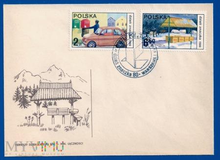 Dzień Znaczka - postęp pocztowy.9.10.1979.a