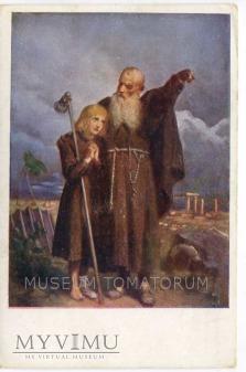 Grottger - Monk zakonnik - Pielgrzym
