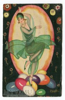 1928 Sofia Chiostri Wielkanoc i dama z pisankami