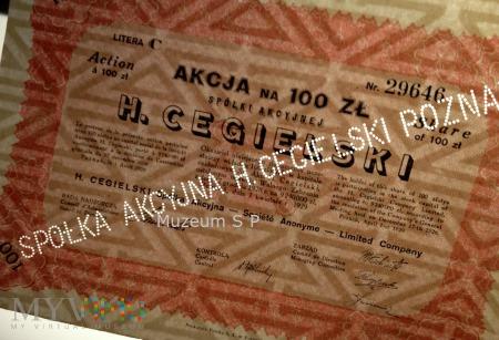 Akcje zakłady Cegielskiego 1929 r.