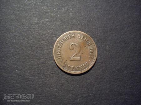 2 Pfennig - 1907r, Cesarstwo Niemieckie