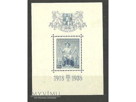 Czechosłowacki blok z 1938 roku.