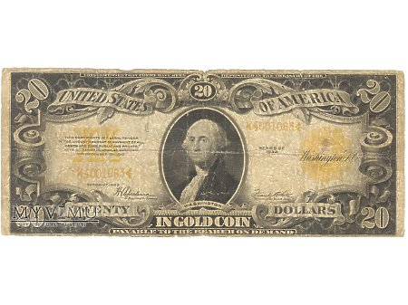 20 USD 1922 GOLD COIN