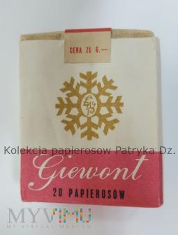 Papierosy GIEWONT 1971 rok cena 6 zł.