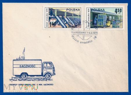 Dzień Znaczka - postęp pocztowy.9.10.1979.c