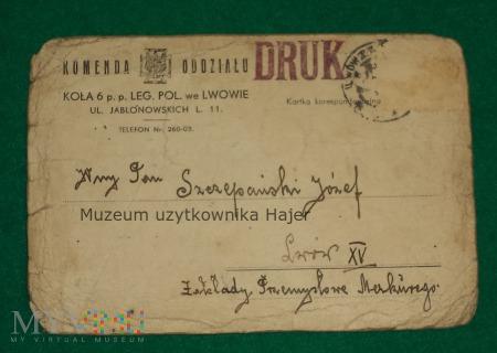 Duże zdjęcie Komenda Oddziału 6 p.p. Legionów Polskich - rozkaz