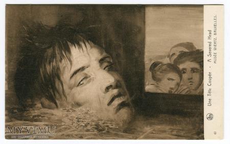 Antoine Joseph Wiertz Ścięta głowa i gapie ?