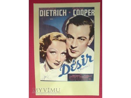 Marlene Dietrich Gary Cooper film Désir ( Pokusa)