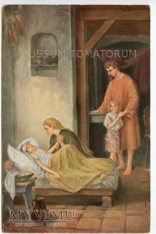 Duże zdjęcie Chore dziecko w domu