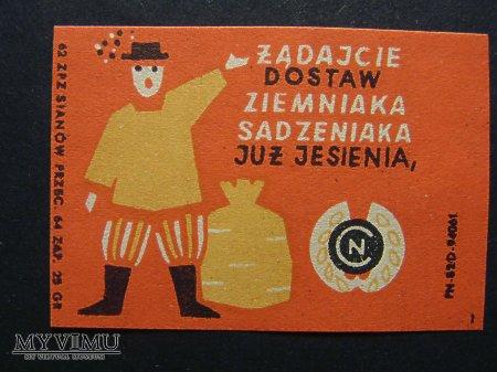 Etykieta - Żądajacie dostaw ziemniaka