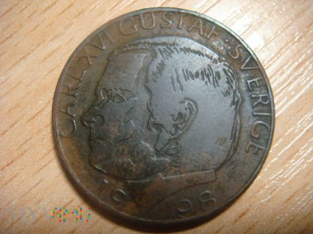Szwecja 1 korona, 1998