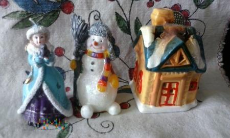 Śnieżny Bałwanek Królowa Śniegu i Domek !