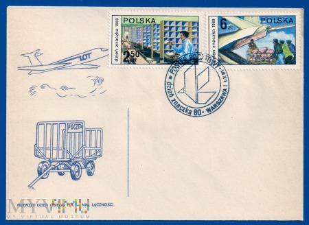 Dzień Znaczka - postęp pocztowy.9.10.1979.d